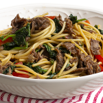 Beef and Spinach Lo Mein