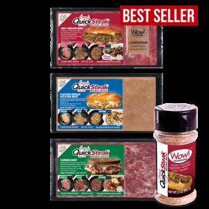 Gary's QuickSteak Sirloin Beef, Chicken, Corned Beef, and Wow Seasoning