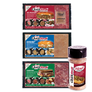 Gary's QuickSteak Sirloin Beef, Chicken, and Corned Beef and Wow Seasoning