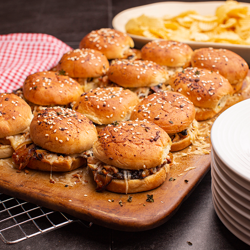 Chicken French Onion Sliders